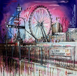SW1 IV by Samantha Ellis -  sized 39x39 inches. Available from Whitewall Galleries